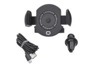 23647 Автомобильное беспроводное зарядное устройство Qumo Qi C 5V 1.5A черный (Charger 005)