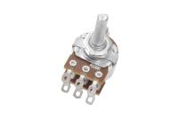 Резистор переменный 6pin(3+3) A100K d=16mm L=20mm стерео (с лыской)