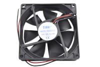 Вентилятор 12V-DC 92x92x25 RQD9225HS (подшипник скольжения, 2700 об/мин. 0.20A 2.4W)