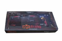 21396 Игровой набор Axe Strike (клаиватура+мышь+коврик)