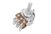 Резистор переменный 6pin(3+3) A1K d=16mm L=20mm стерео (с лыской)