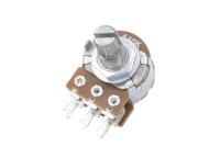 Резистор переменный 6pin(3+3) A10K d=16mm L=15mm стерео (с рифлением + шлиц)