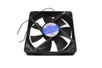 Вентилятор 12V-DC120x120x25 RQD12025MS (подшипник скольжения, среднескоростной)