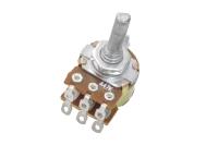 Резистор переменный 6pin(3+3) A47K d=16mm L=20mm стерео (с лыской) №001917