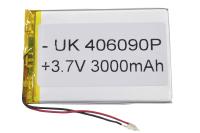 00-00016012 Аккумулятор 3.7V 3000mAh 4.0x60x90mm универсальный с проводками