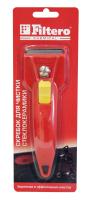 203 Скребок Filtero для очистки стеклокерамических плит, красный