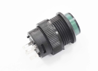 Кнопка R16-503BD-G Off-(On) 250V 3A D=16mm зеленая (без фиксации) LED подсветка - 3V