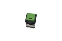 Кнопка KD2-22BER Off-(On) зеленая без фиксации (LED-подсветка)