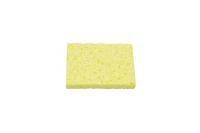 Губка для очистки жал паяльников 80x52x10 mm желтая
