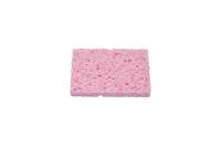 Губка для очистки жал паяльников 80x52x10 mm розовая