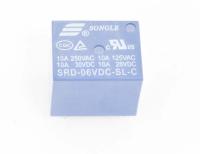 Реле SRD-06VDC-SL-C Катушка 6V, одна группа, 10А 19,0х15,8х15,5