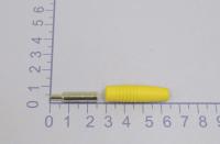"""Разъем банан """"гн"""" пластик на кабель ZP-041 желтый"""