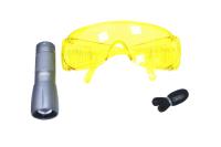 1007926 Набор BC-UV-L-1 для поиска утечек в кейсе( UV фонарик + очки)