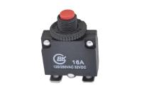Автомат защиты сети KBF1-01 (MR1-16A-II) 16A 250V (выводы изогнуты под 90°)