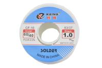 Припой 100 грамм 1.0 мм флюс (60%Sn,40%Pb) CF10 Kaina 60/40