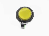 Кнопка GMSI-7B-C no(nc)+nc(no 250V 5A D=24.5mm желтая (LED подсветка - 12V)