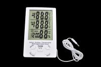 TA298 Термометр комнатно-уличный с влажностью и часами