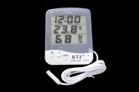 TA218A Термометр комнатный с влажностью и часами