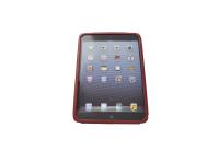 121124 Тонкая кожаная чехол-подставка Lucca leather stand case for iPad Mini/Red LHA090-C
