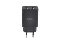 UHE 22 Сетевое зарядное устройство UBIK 2USB, 2A, черный