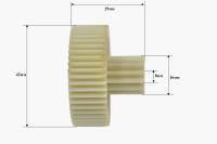 Шестерня Помощница, Д-40/15мм, зубья 50/13шт. (прямой/прямой)
