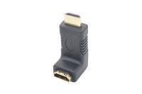 "Переходник HDMI ""шт"" - HDMI ""гн"" gold угловой TD-211"