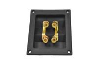 Терминал аудио четверной металл gold 1-743G